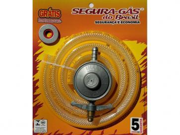 Kit regulador de gás 1kg c/mangueira1,20m